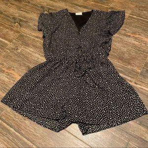 SIENNA SKY Black&white spotted short jumpsuit M